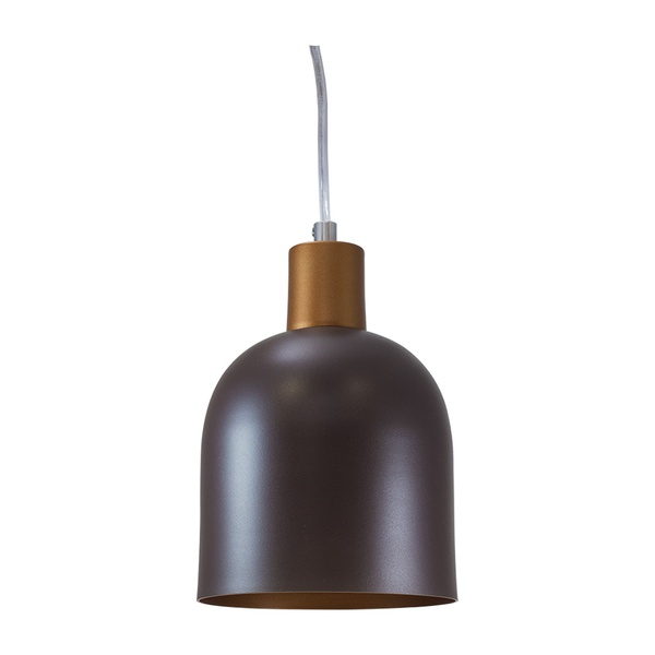 Pendente para 1 Lâmpada E27 Marrom(externo) Cobre(interno)