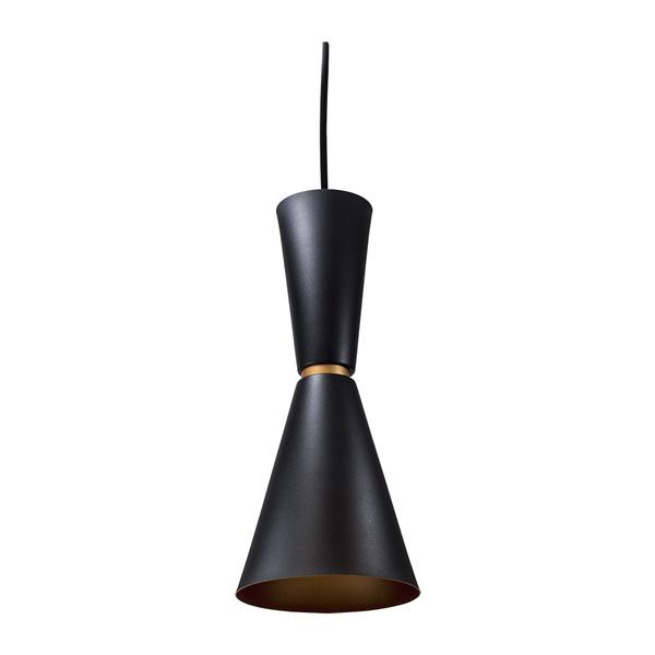 Pendente para 1 Lâmpada E27 Preto(externo) Cobre(interno)