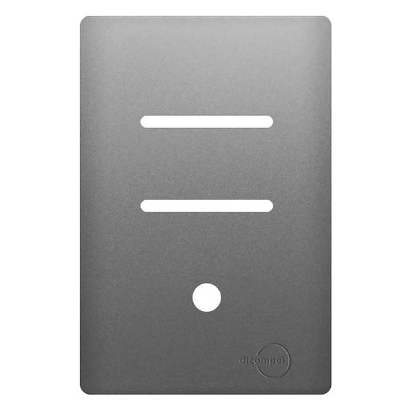 Placa 4x2 com Suporte para 2 Interruptores Horizontais + 1 Saída de Fio AC1500/129 Dicompel