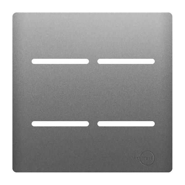 Placa 4x4 com Suporte para 4 Interruptores AC1500/56 Dicompel