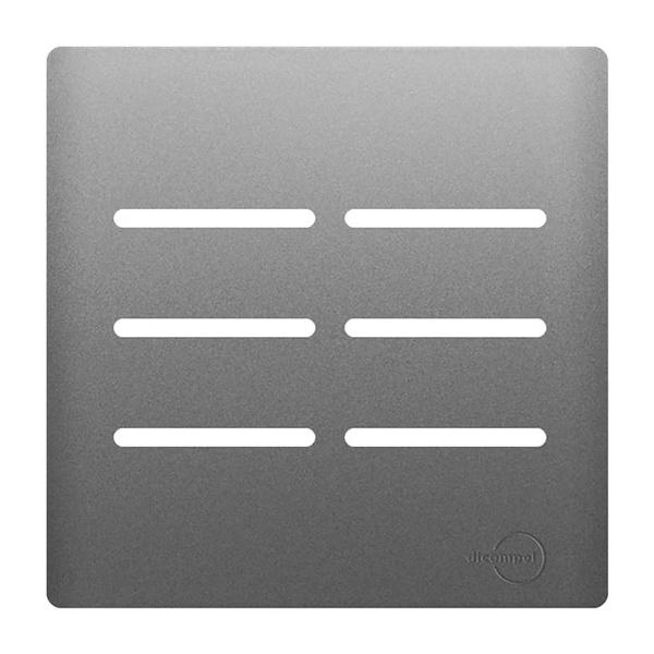 Placa 4x4 com Suporte para 6 Interruptores AC1500/57 Dicompel