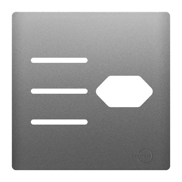 Placa 4x4 com Suporte para 3 Interruptores + 1Tomada AC1500/108 Dicompel