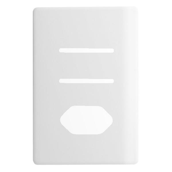 Placa 4x2 com Suporte para 2 Interruptores + 1Tomada Horizontais DC1100/79 Dicompel
