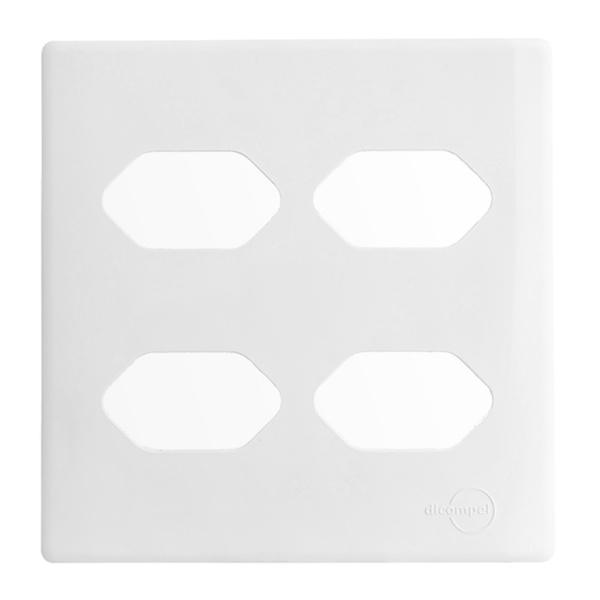 Placa 4x4 com Suporte para 4 Tomadas DC1100/59 Dicompel