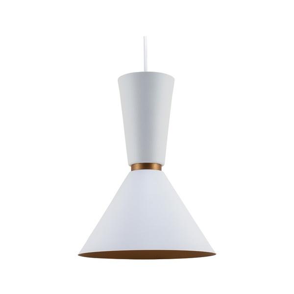 Pendente para 1 Lâmpada E27 Branco(externo) Cobre(interno)