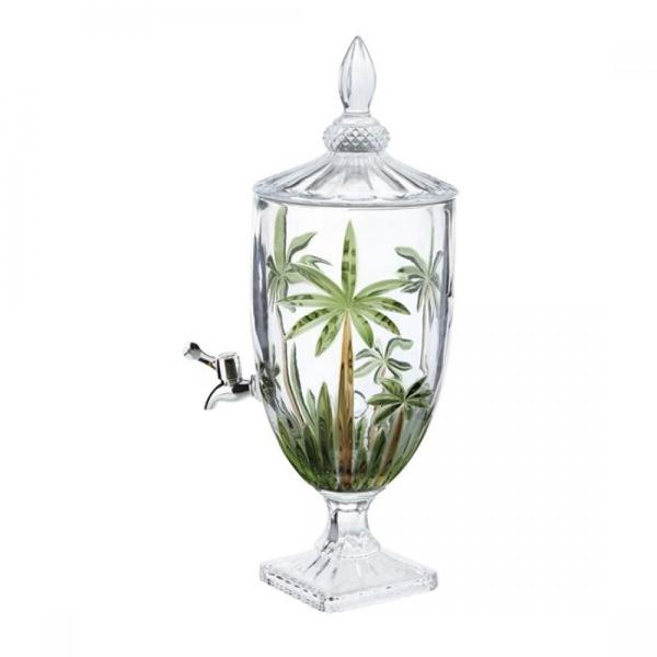 Suqueira de Cristal Palm Tree Handpaint 4 Litros Wolff