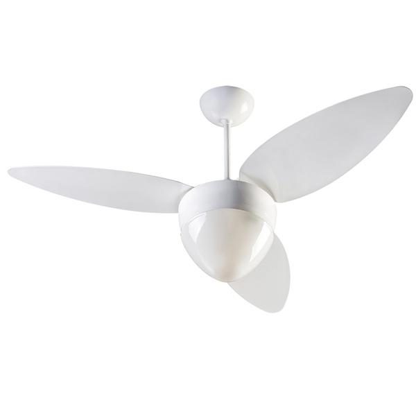 Ventilador de Teto Aires 3 Pás Branco para 2 Lâmpadas E27 220V Ventisol