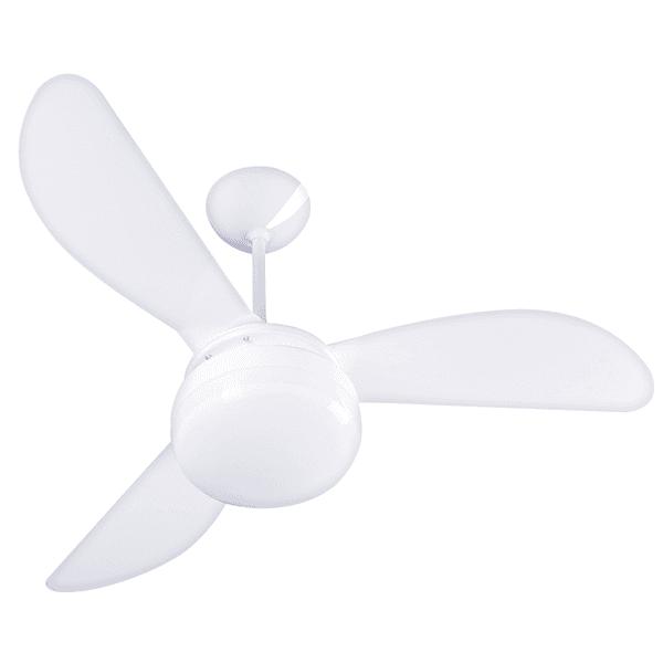 Ventilador de Teto Fênix 3 Pás Branco para 2 Lâmpadas E27 220V Ventisol