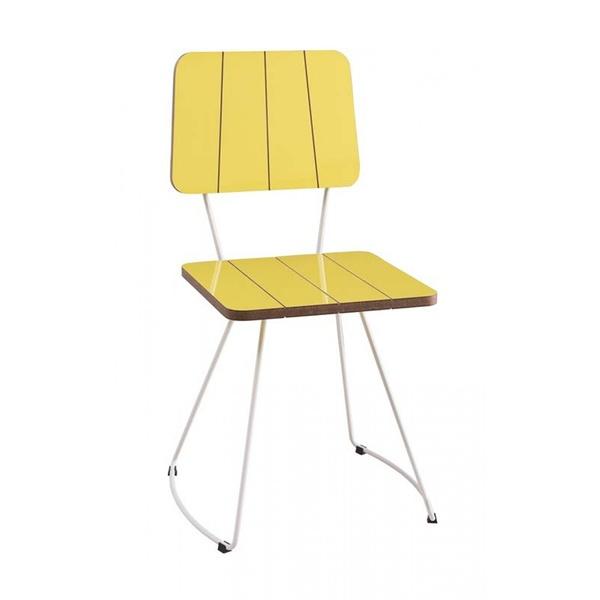 Cadeira Costela Meia Lua Amarelo Daf