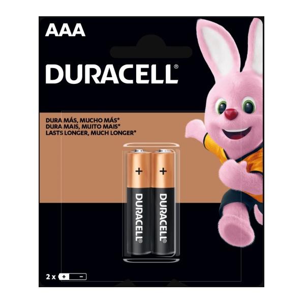 Pilha AAA Alcalina Palito PCT=2 Duracell