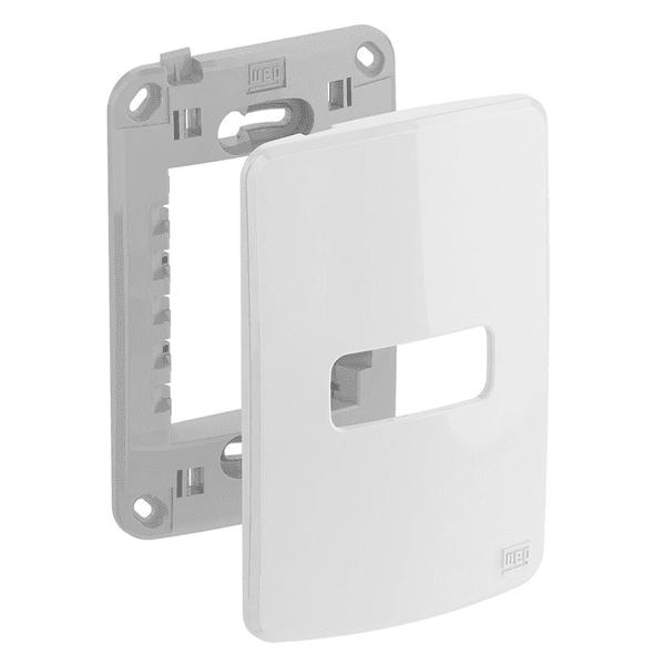 Placa 4x2 para 1 Módulo Horizontal com Suporte 13295536 Composé Weg