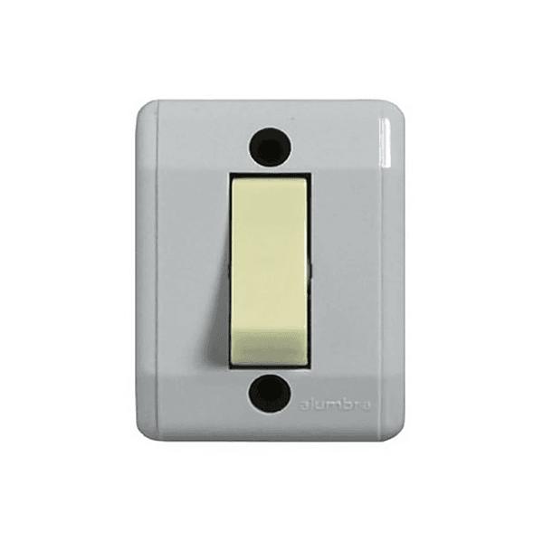 Interruptor Simples de Sobrepor Cinza 2511 Alumbra