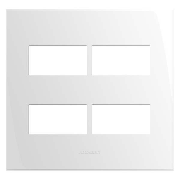 Placa 4x4 com Suporte para 4 Módulos 85005 Inova Pró Alumbra
