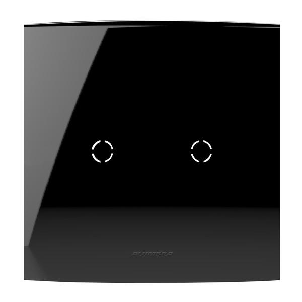 Placa 4X4 Cega Com Suporte e/ou com Saída de Fio 85533 Black Piano Inova Pró Class Alumbra