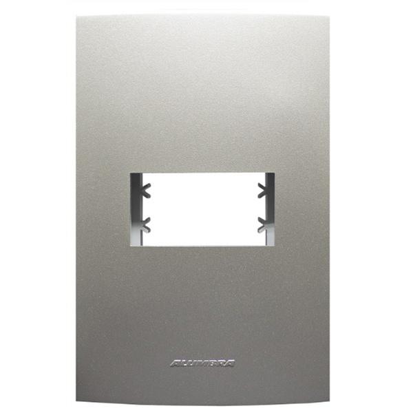 Placa 4x2 com Suporte para 1 Módulo 85576 Titanium Inova Pró Class Alumbra