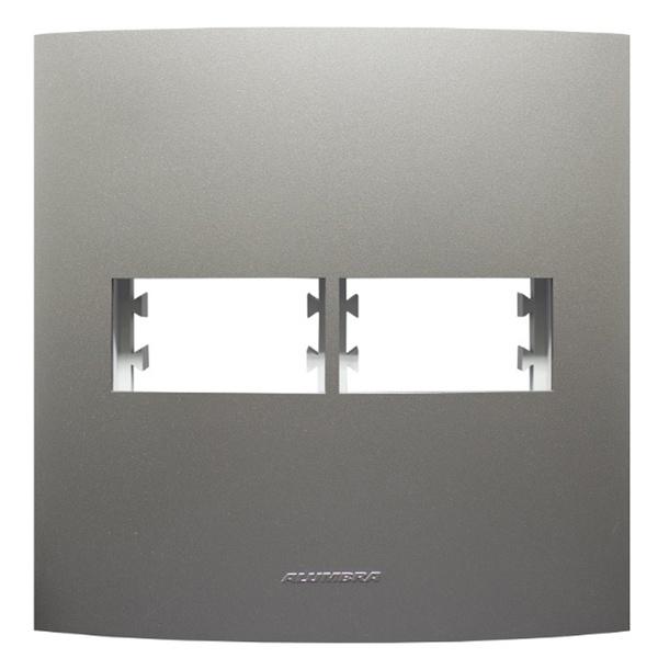Placa 4x4 com Suporte para 1 + 1 Módulo 85580 Titanium Inova Pró Class Alumbra