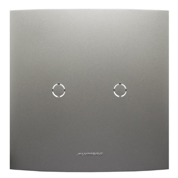 Placa 4x4 Cega com Suporte e/ou com Saída de Fio 85583 Titanium Inova Pró Class Alumbra