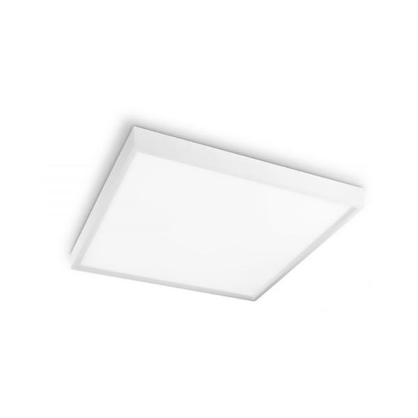 Painel Plafon de LED Sobrepor 40x40cm Quadrado 36W Branco Neutro