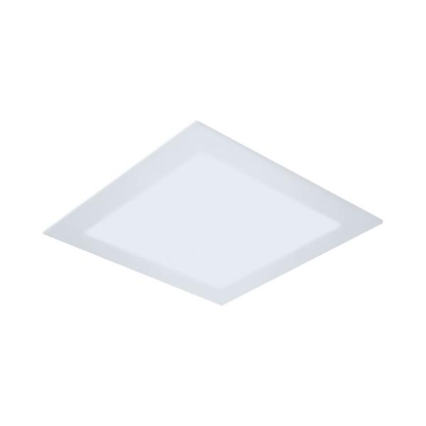Painel / Plafon de LED Embutir 22x22cm Quadrado 18W Branco Quente