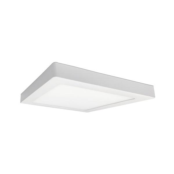Painel / Plafon de LED Sobrepor 22x22cm Quadrado 18W Branco Frio