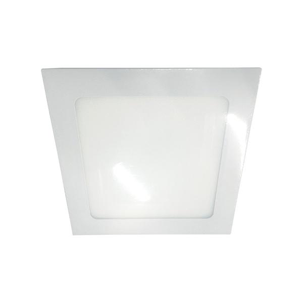 Painel / Plafon de LED Embutir 17x17cm Quadrado 12W Branco Frio