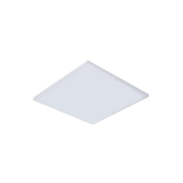 Painel / Plafon de LED Embutir Mini Borda 9x9cm Quadrado 8W Branco Quente