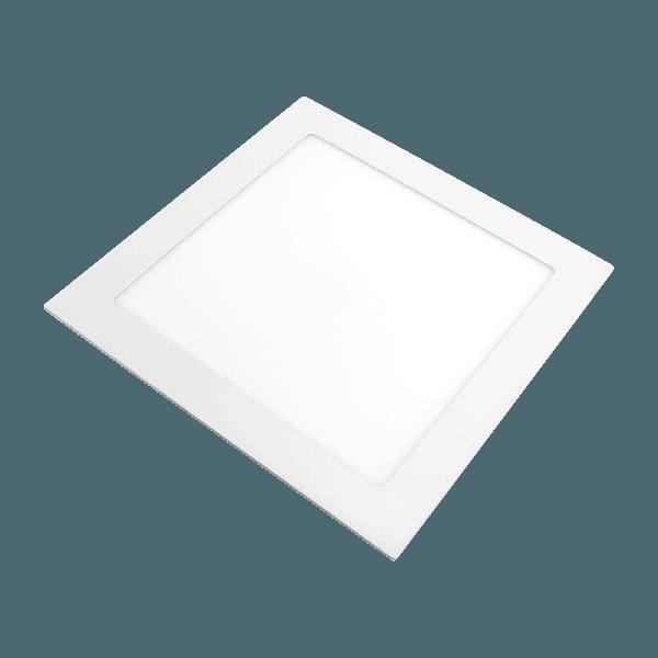 Painel / Plafon de Led Quadrado de Embutir 22,5 x 22,5 18 W Bivolt Branco Lorenzetti