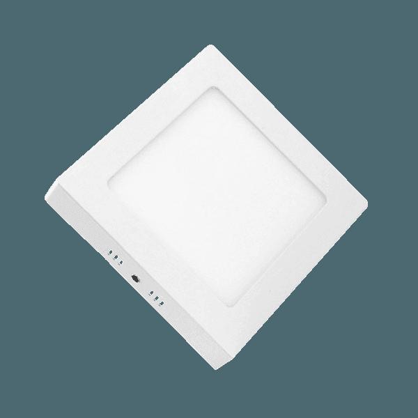 Painel / Plafon de Led Quadrado de Sobrepor 17,5 x 17,5 12W Bivolt Branco Lorenzetti