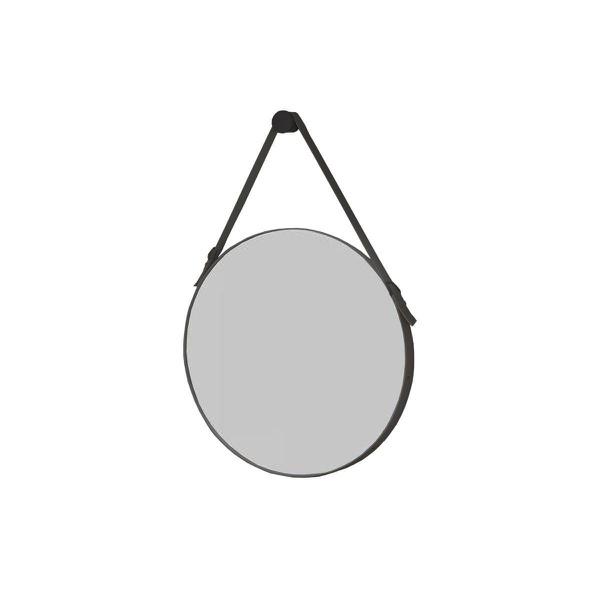 Espelho Onix Redondo 50 cm Cinto Preto Rudnick