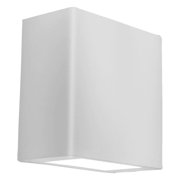 Arandela New Clean Quadrada Branca com 2 Leds 6W Integrados 127V Branco Quente NewLine