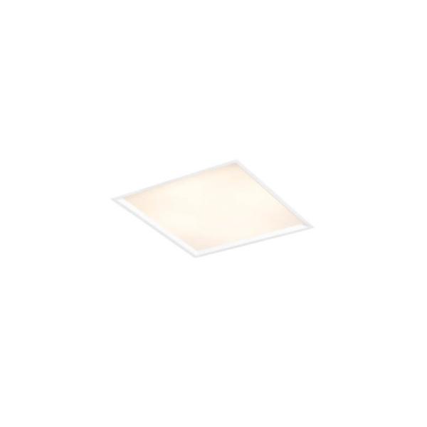 Plafon de Embutir Slim II 25x25cm 2E27 50W Branco Bivolt Newline