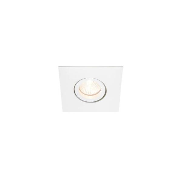 Embutido de Teto Quadrado Plano Para Lâmpada PAR20 Branco Bivolt Newline