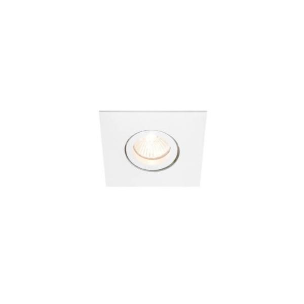 Embutido de Teto Quadrado Plano Para Lâmpada AR70 Branco Bivolt Newline