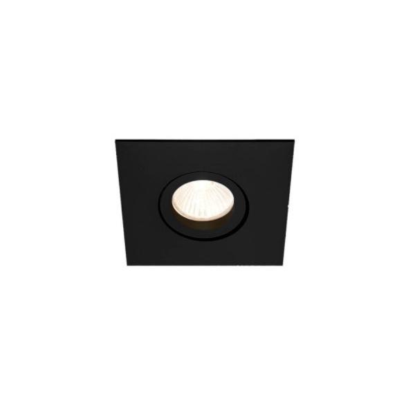 Embutido de Teto Quadrado Plano Para Lâmpada AR70 Preta Bivolt Newline
