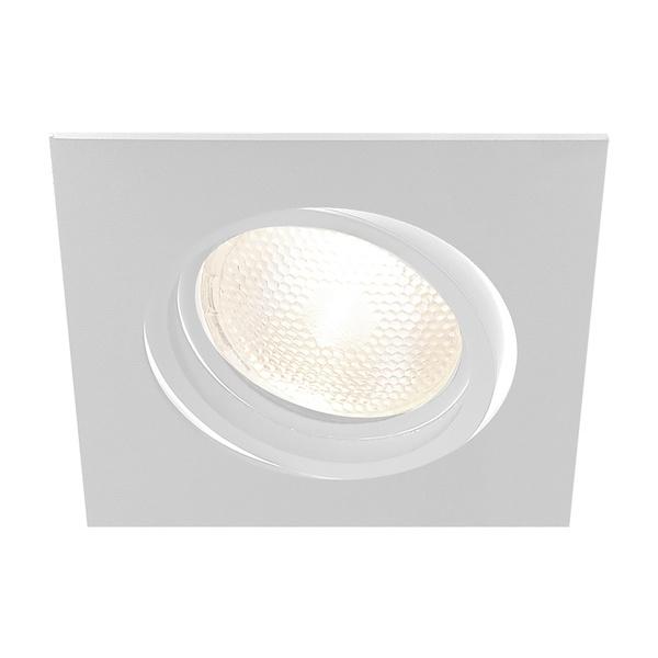 Embutido de Teto Quadrado Plano Para Lâmpada Dicróica Branco Bivolt Newline