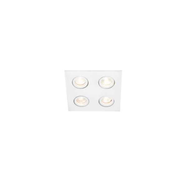 Embutido de Teto Quadrado Plano Para Lâmpada AR111 Branco Bivolt Newline
