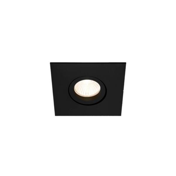 Embutido de Teto Quadrado Plano Para Lâmpada Mini Dicróica Preto Bivolt Newline