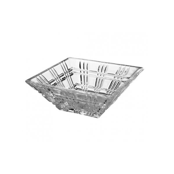 Jogo de 4 bowls quadrados em cristal ecológico L11,5xP11,5xA5cm