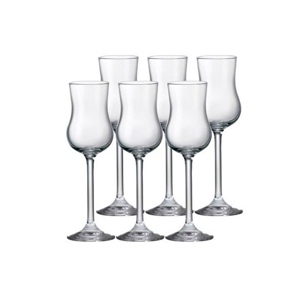 Jogo de 6 taças Gastro para grappa e licor em cristal ecológico 85ml 18,5cm
