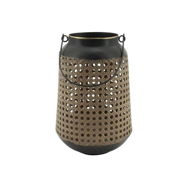 Lanterna Decorativa Treliça Cortiça e Metal