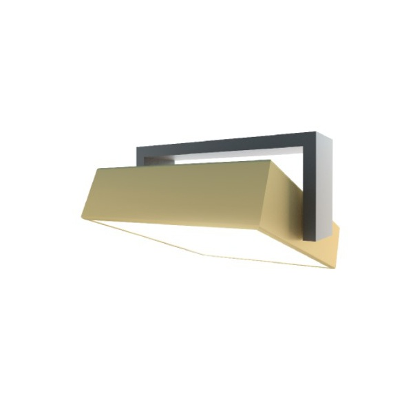 Plafon Move 3000k 14W 20x20 Onix e Gold Bella Italia