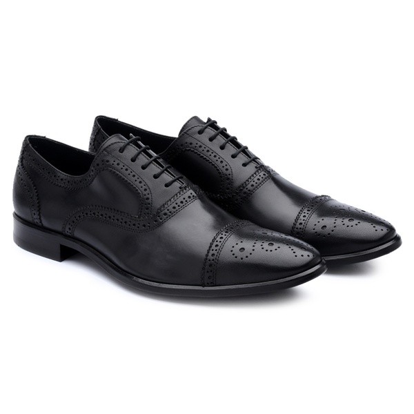 Oxford Brogue Preto 330002