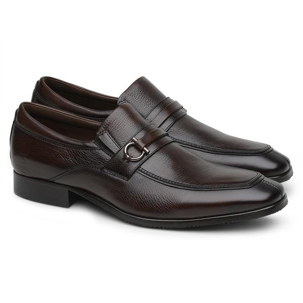 Sapato Scatamacchia Masculino de Couro Café 7100