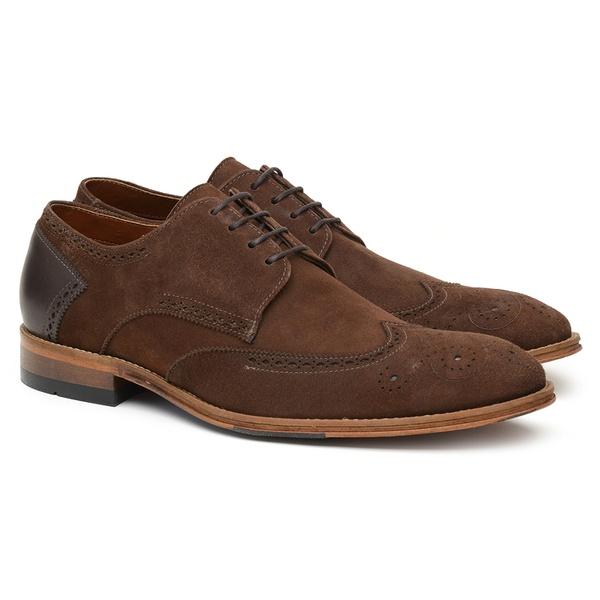 Sapato Masculino Casual Camurça Café D09