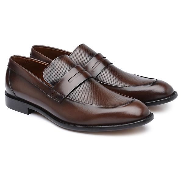 Sapato Social Masculino em Couro Calf Diamante Mouro H06
