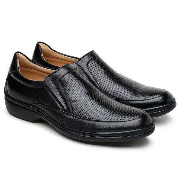 Sapato Casual Masculino Long Time Preto SC04