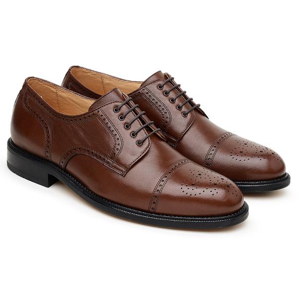 Tamanho Especial Sapato Scatamacchia Chocolate 301