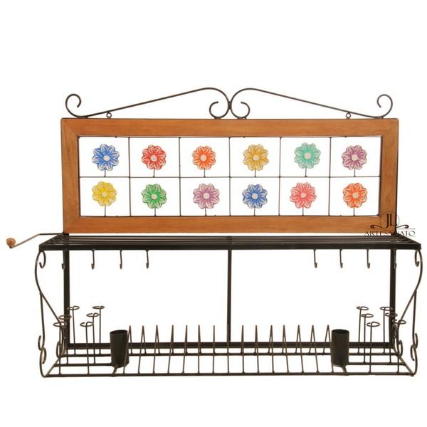 Paneleiro 1m - Florzinhas coloridas