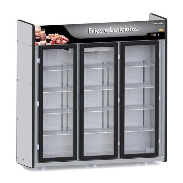 Refrigerador/Expositor Vertical Auto Serviço - Câmara Frios e Laticínios 3 Portas Refrimate