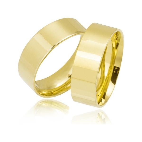 Alianças de Ouro Branco Feira de Santana 7mm